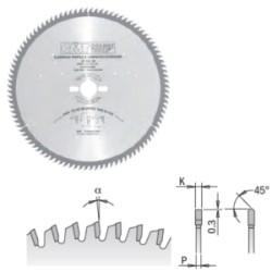 LAMA CIRC. ALLUMINIO/PLASTICA D.250 SP.3.2 F.30 DENTI 80