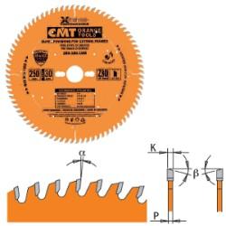 LAMA CIRC. X TAGLI CORNICI  D.250 SP.3 F.30 DENTI 80