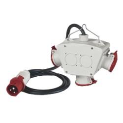 ADATTATORE 3P+N+T 16A 400V C/CAVO IP44 602.3005-064