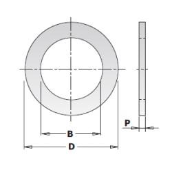 ANELLO RIDUZIONE X LAME D.30-25 SP.2