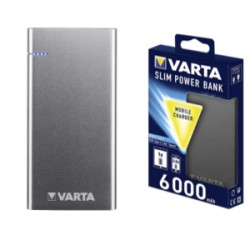 CARICABATTERIA SLIM POWER BANK 6000mAH 2 USB 3,0/2,4A 57965 @