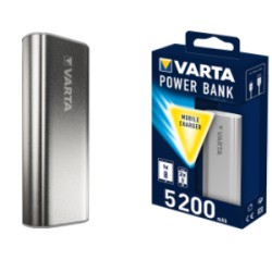 CARICABATTERIA POWER BANK 5200mAH 1 USB 2,1A SILVER 57963